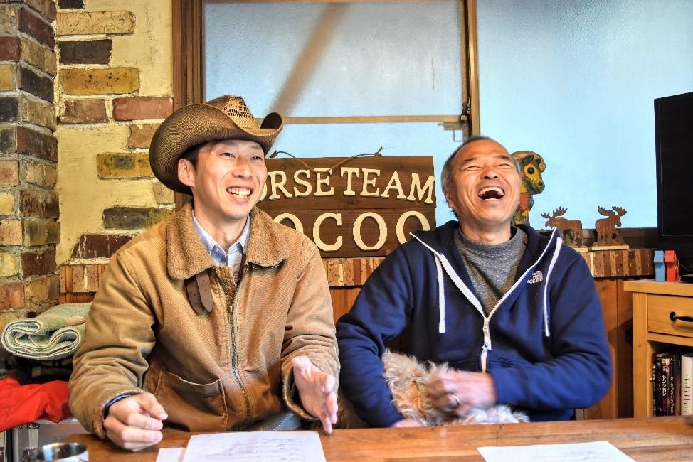 (左)馬たうろすさん(右)辻井啓伺さん