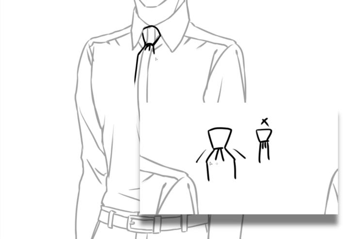 ネクタイの描き方