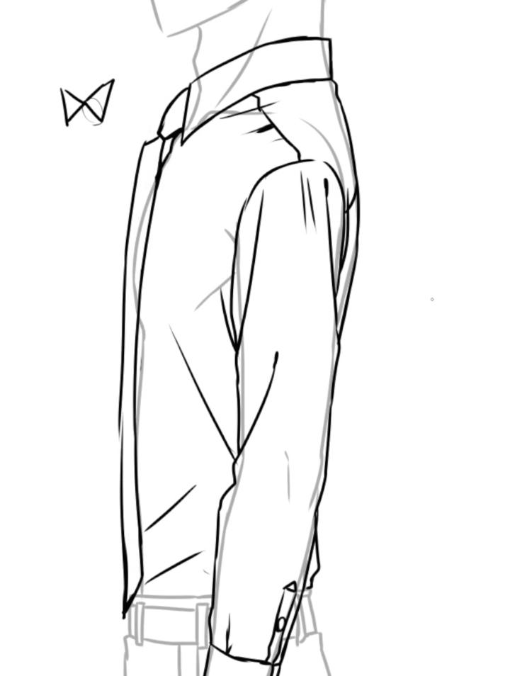 スーツの描き方講座 ワイシャツジャケットスラックスお絵かき