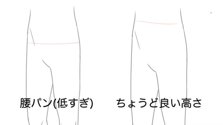 スラックスの履き口
