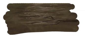 地面に根っこを描く