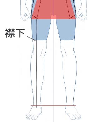 着物の襟下を描く