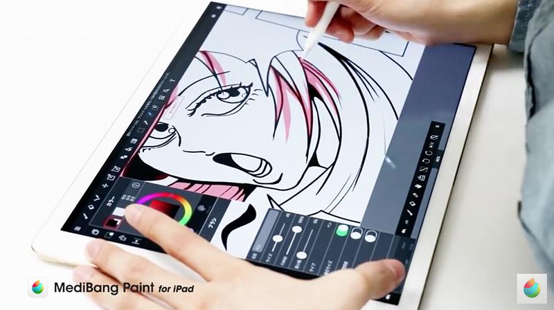 Apple Pencilで細かな箇所を描く