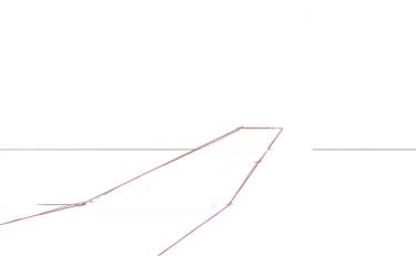 斜めから見た坂道を描く