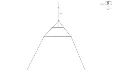 消失点から下方向に引いた線上のVP