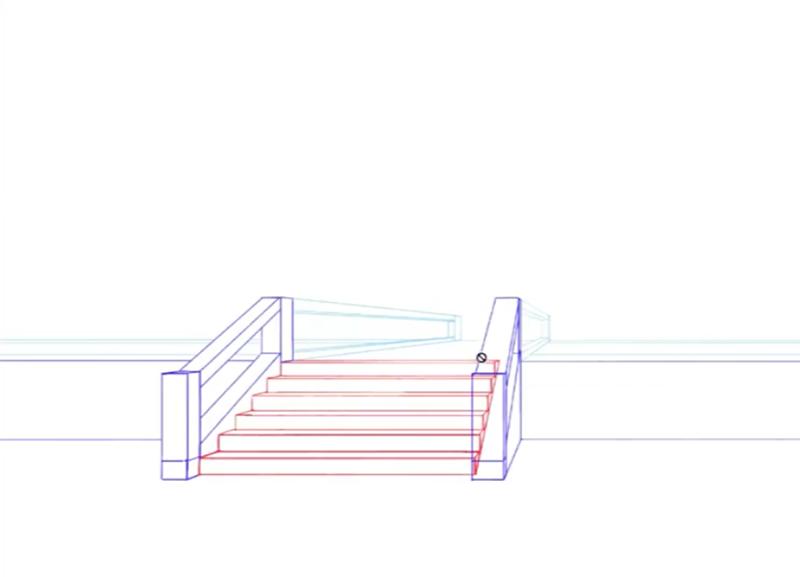 階段のあるイラストの描き方