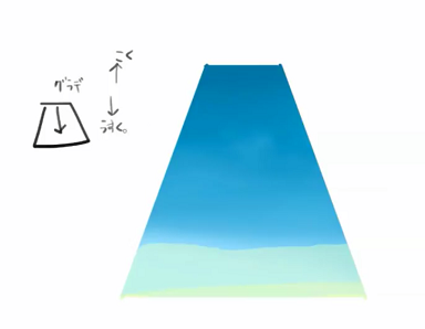 グラデーションで水を描く