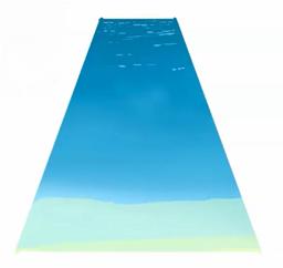 水面に波を描く