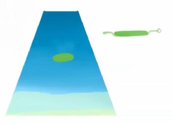 水面にモチーフを描く