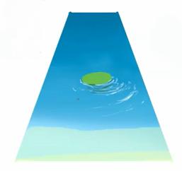 波紋を描く
