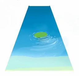 水の透明感を表現する