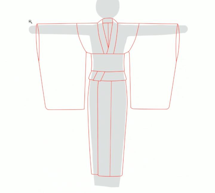 和服の形になる