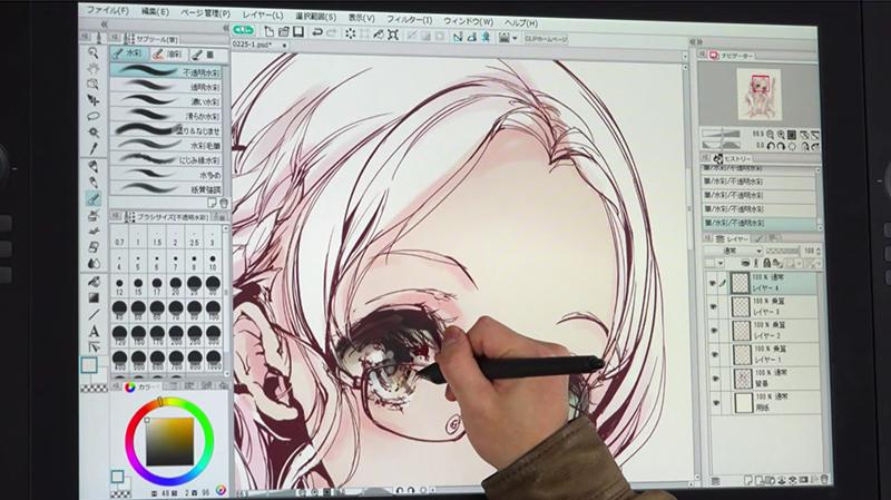 目を描くのは繊細な作業