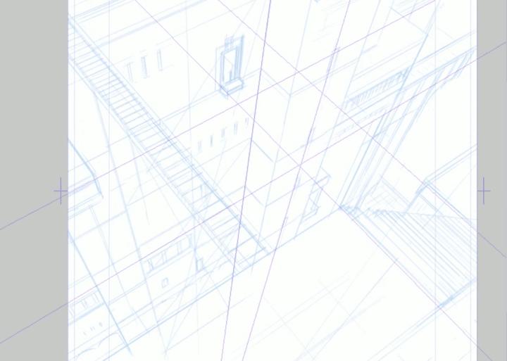 三点透視図法の描き方