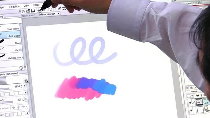 デジタルでのペンの塗り
