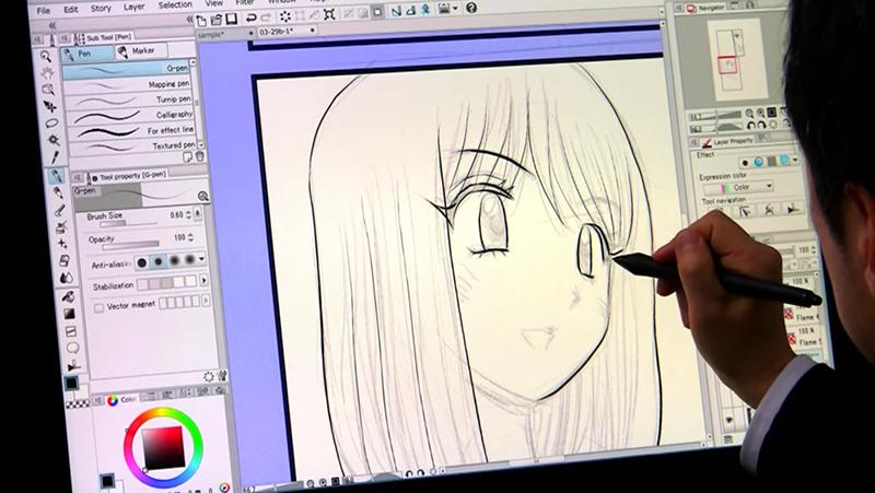 柿本ケンジロウ先生がキャラを描く