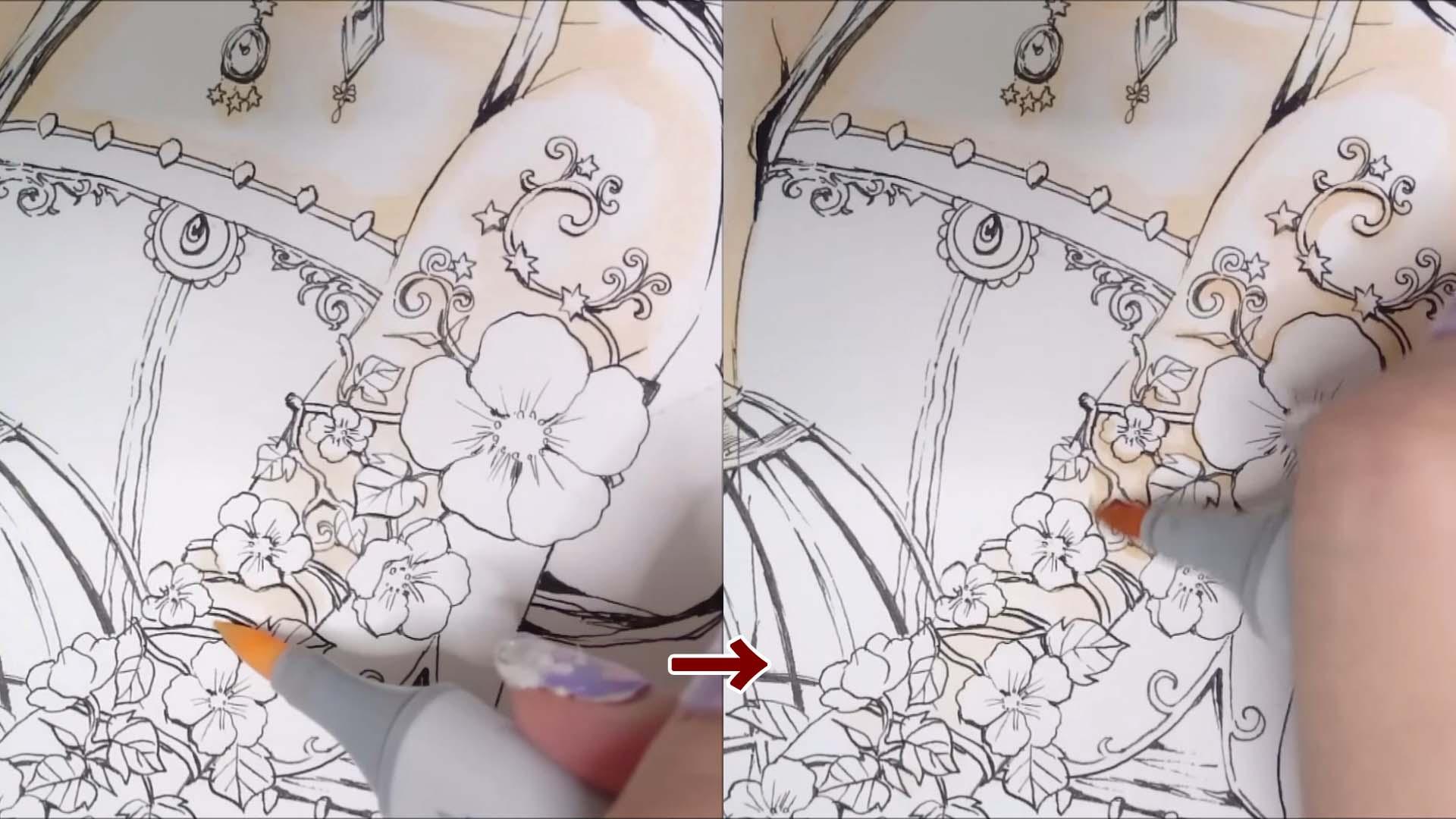 腕、細かい箇所の塗り方