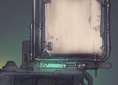 機械の発光を表現
