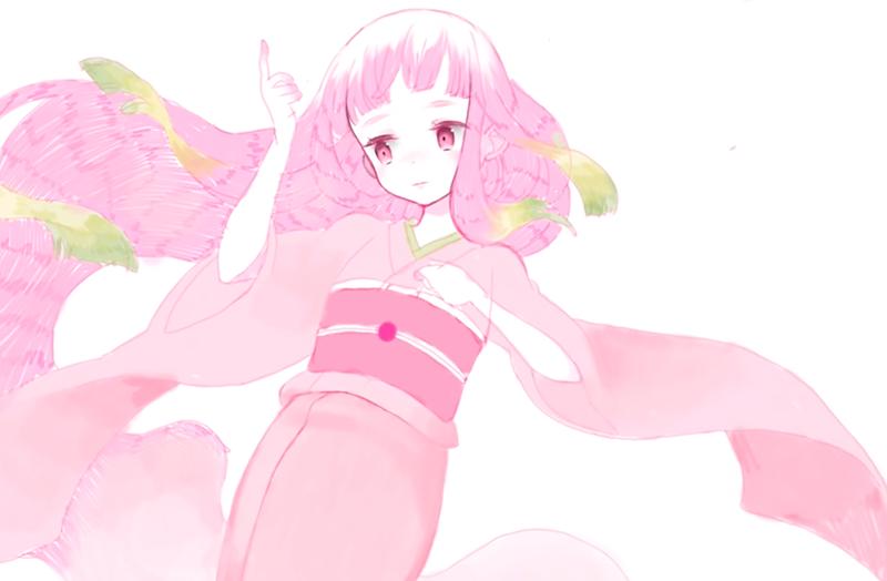 妖精の着物に描き込み