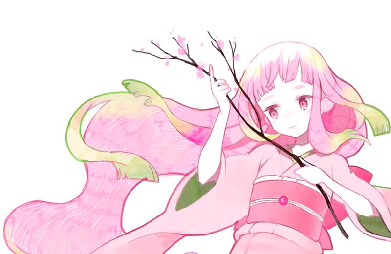 桜の枝が完成