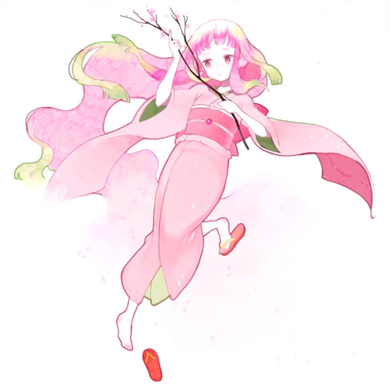 春の妖精のイラストが完成