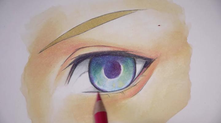 血色を意識して顔を描く