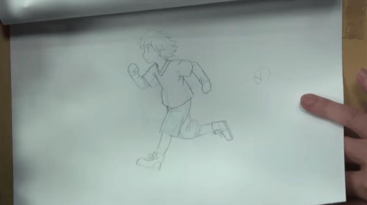 走る動作のアニメーション