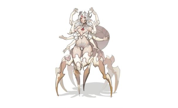 蜘蛛のイラストの完成形