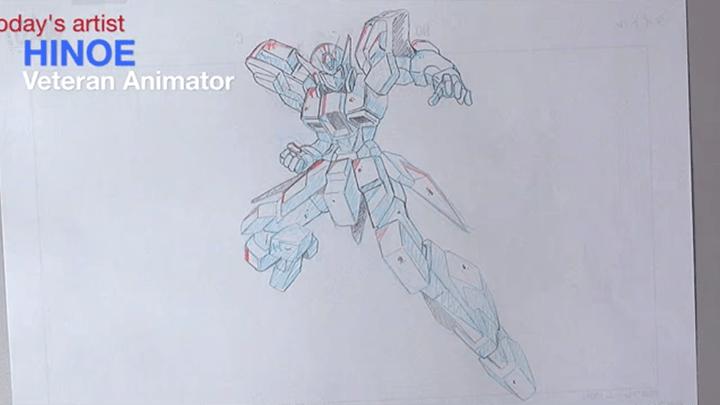 アニメーターによるロボットの原画1