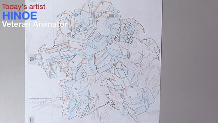 アニメーターによるロボットの原画2