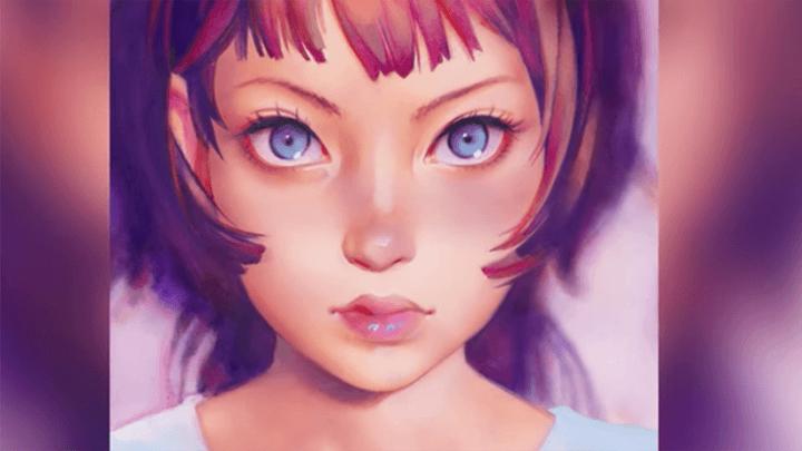パッツン前髪の女の子イラスト