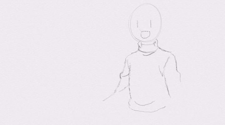 服のシワの描き方