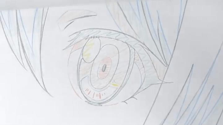 アニメキャラクターの目の原画