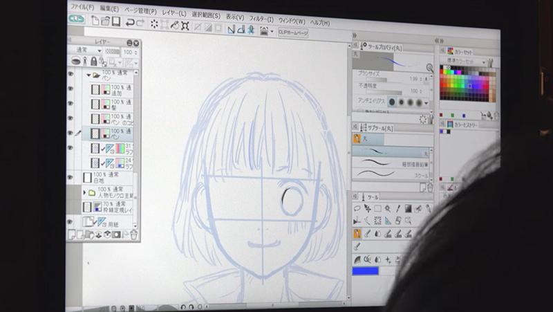 小沢かな先生のラフイラスト