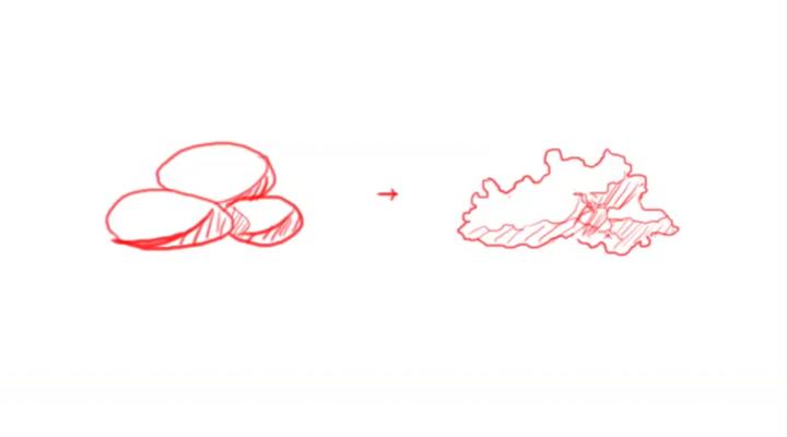 積雲や積乱雲を描く際のポイント