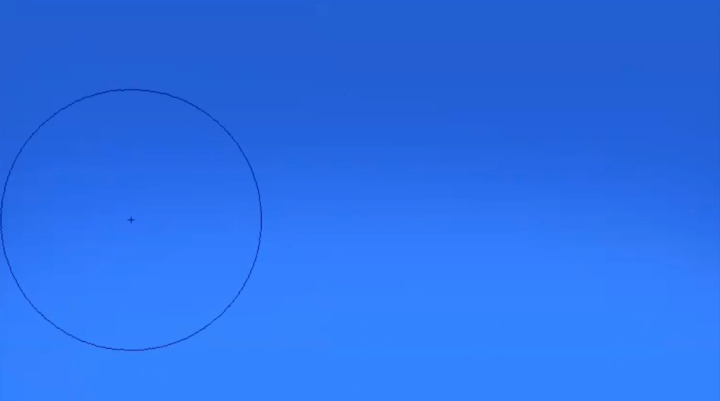 エアブラシで空を描く
