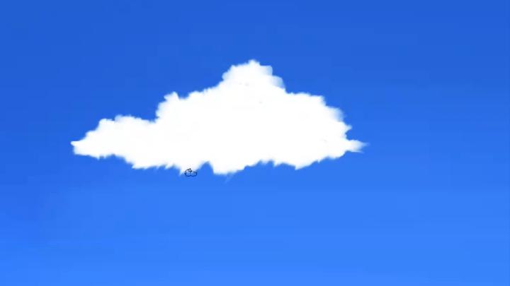 雲のベース塗り完成