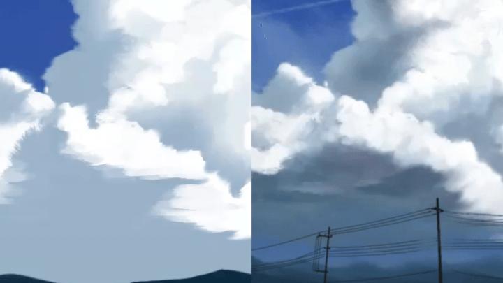 雲に一色加える