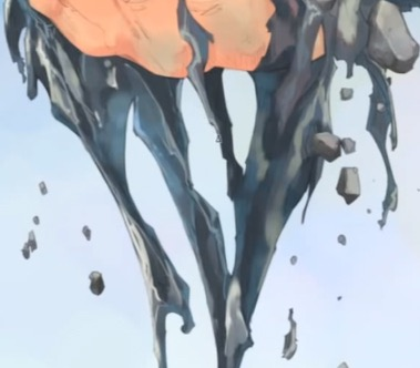 こぼれ落ちる水