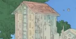 屋根の部分を塗る