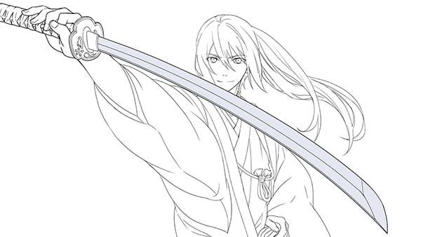 日本刀の塗り1
