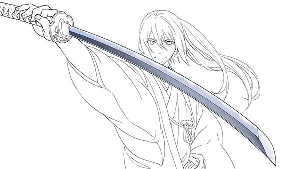 日本刀のテクスチャ