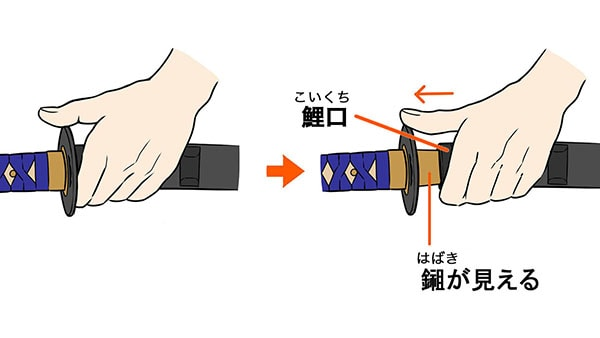 刀の抜き方