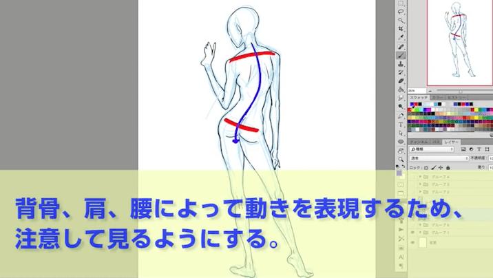 背骨のS字ライン