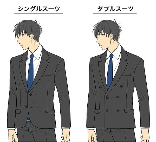 シングルスーツとダブルスーツ