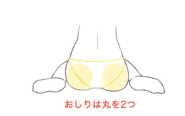 おしりの描き方
