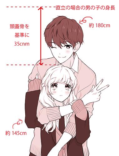 身長差カップル