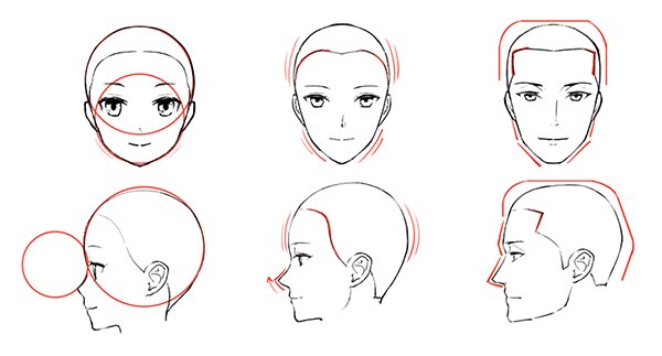 子ども・女性・男性の顔の比較