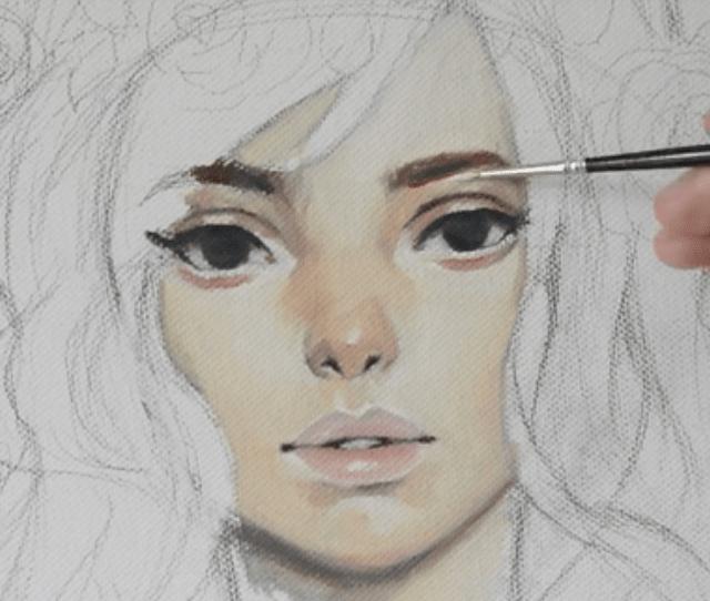 茶色や黒で目と眉毛を描きつつ主線を整える
