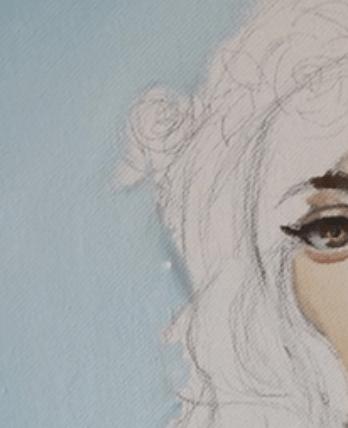 背景の色を人物と重なるように塗る